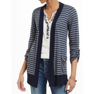 Anthropologie Splendid Navy Striped Cardigan Small